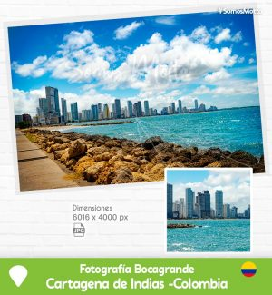 Fotografía Boca Grande Bahía de Cartagena de Indias Colombia