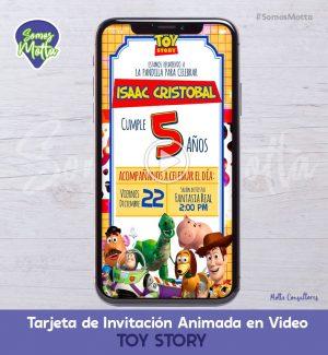TARJETA DE INVITACIÓN ANIMADA DE TOY STORY