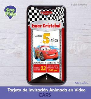 TARJETA DE INVITACIÓN ANIMADA DE CARS | CARRITOS