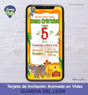 TARJETA DE INVITACIÓN DIGITAL ANIMADA LA GUARDIA DEL LEÓN