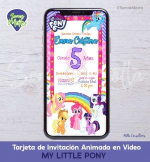 TARJETA DE INVITACIÓN DIGITAL ANIMADA MY LITTLE PONY