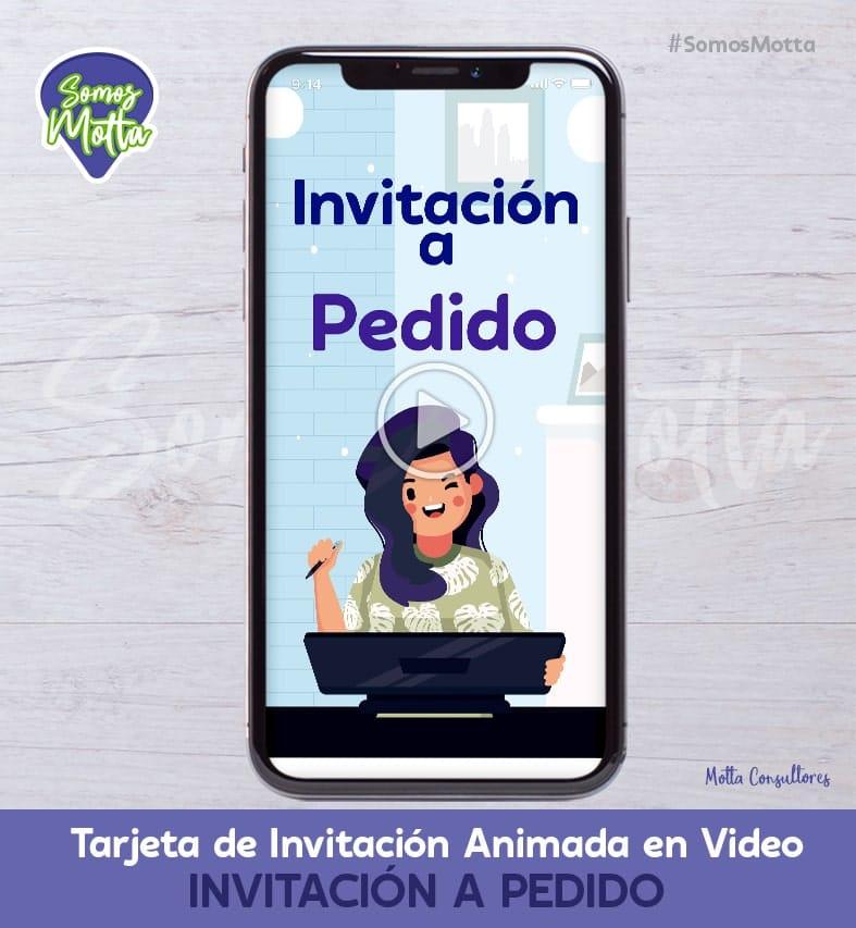 TARJETA DE INVITACIÓN DIGITAL ANIMADA A PEDIDO