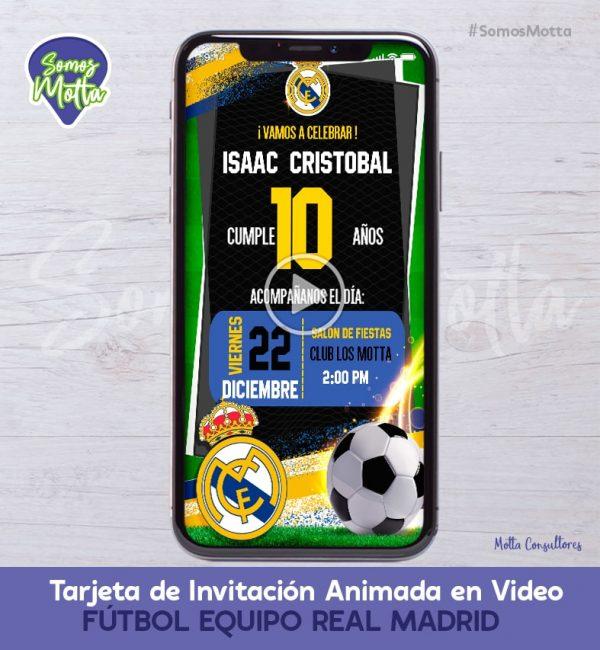 TARJETA DE INVITACIÓN DIGITAL EQUIPO REAL MADRID