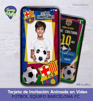 TARJETA DE INVITACIÓN DIGITAL EQUIPO BARCELONA FC