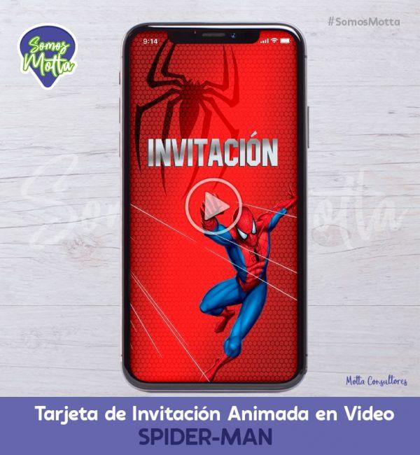 TARJETA DE INVITACIÓN ANIMADA DEL HOMBRE ARAÑA