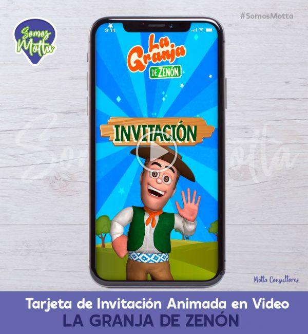 TARJETA DE INVITACIÓN ANIMADA DE LA GRANJA DE ZENÓN