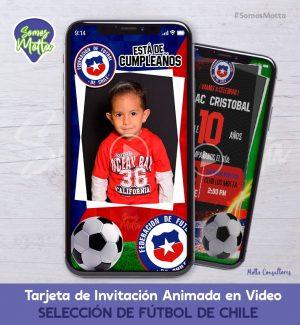 TARJETA DE INVITACIÓN DIGITAL SELECCIÓN DE CHILE CON FOTO