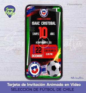 TARJETA DE INVITACIÓN DIGITAL SELECCIÓN CHILENA
