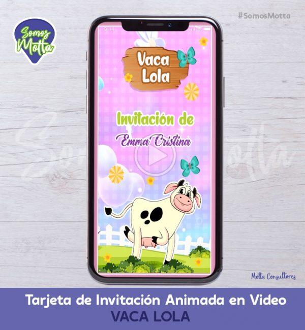 TARJETA DE INVITACIÓN DIGITAL ANIMADA LA VACA LOLA