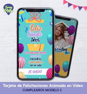 TARJETA DIGITAL DE FELICITACIONES DE CUMPLEAÑOS 2