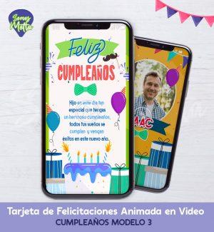 TARJETA DIGITAL DE FELICIDADES PARA CUMPLEAÑOS 3