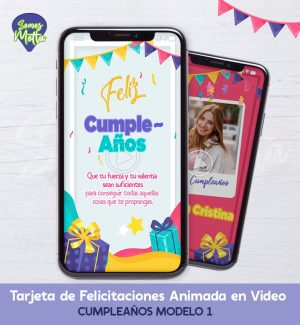 TARJETA DE FELICITACIONES DE CUMPLEAÑOS 1