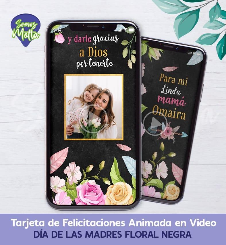 TARJETA REGALO DÍA DE LA MADRE DIGITAL DE FLORES