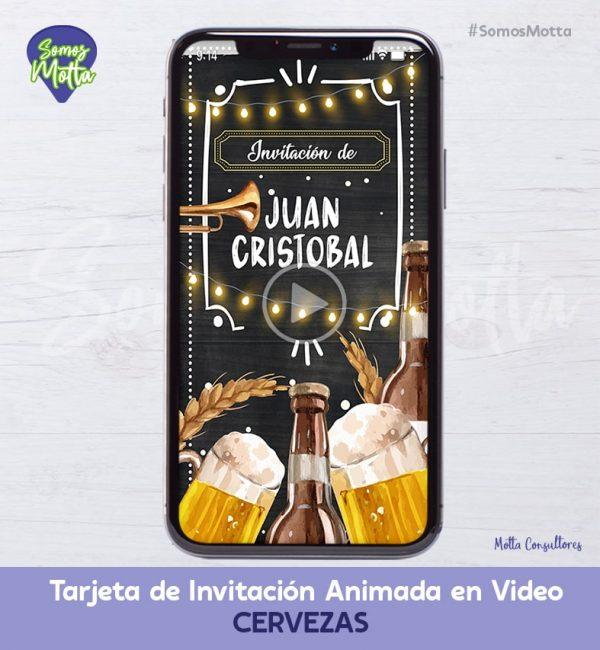 TARJETA DE INVITACIÓN DIGITAL DE CERVEZAS PARA HOMBRE