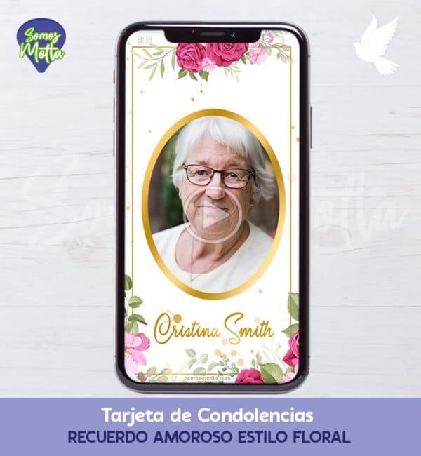TARJETA DE DIFUNTOS PARA CONDOLENCIAS Y AGRADECIMIENTO