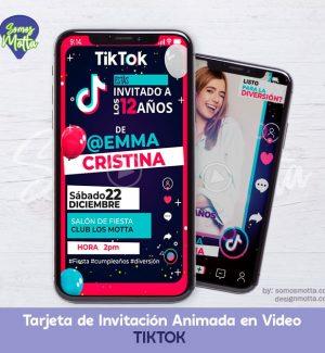 TARJETA DE INVITACIÓN CUMPLEAÑOS TIKTOK