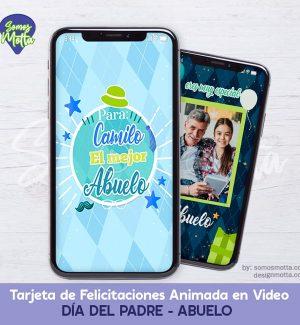 TARJETA DIGITAL DE FELICITACIONES DÍA DEL PADRE ABUELO