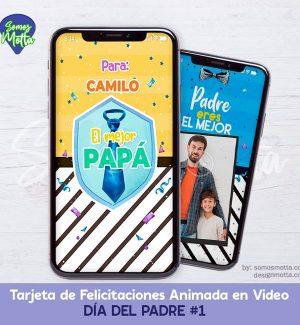 TARJETA DIGITAL DE FELICITACIONES DÍA DEL PADRE 1