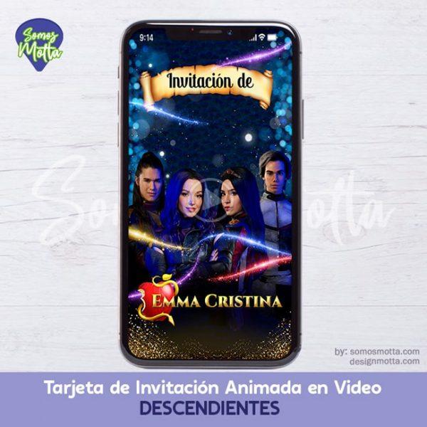 TARJETA DE INVITACIÓN CUMPLEAÑOS DESCENDIENTES