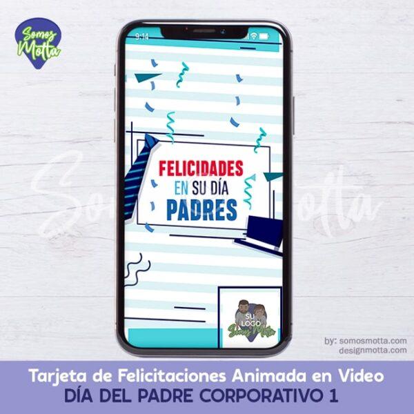 TARJETA FELICITACIONES DÍA DEL PADRE CORPORATIVO 1