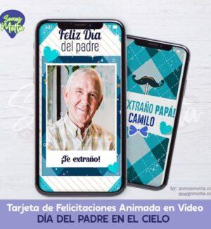 TARJETA DIGITAL DÍA DEL PADRE EN EL CIELO