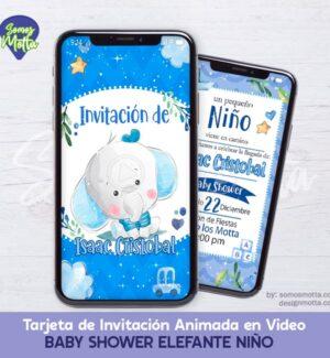 TARJETA DIGITAL DE INVITACIÓN BABY SHOWER NIÑO