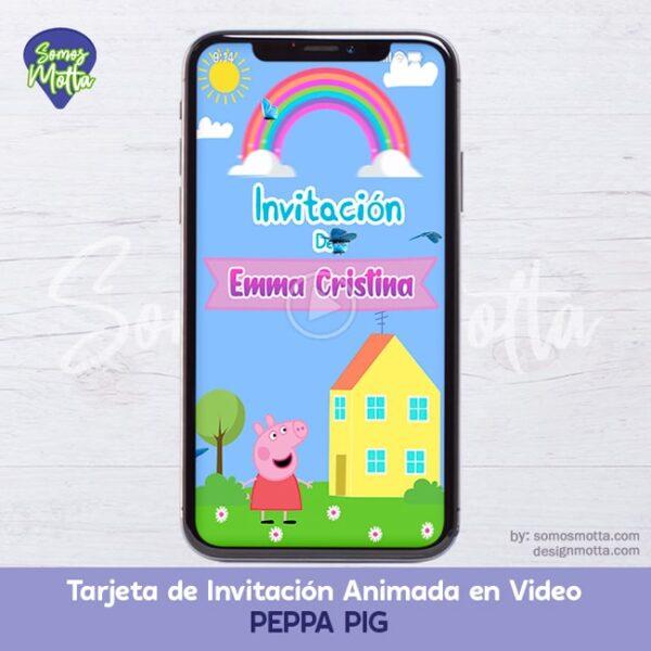 TARJETA DIGITAL DE INVITACIÓN PEPPA PIG